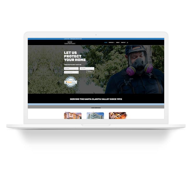 Dallas Pest Santa Clarita Web Design